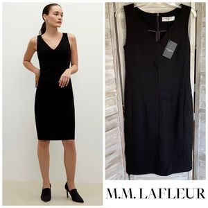 MM LaFLEUR black Rachel sleeveless sheath dress 12